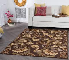 amazon universal rugs 105328 brown 5x7 area rug 5 feet by 7 feet home kitchen