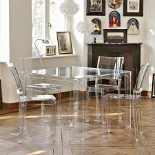 see through furniture. See Through Dining Table And Chairs Seating Furniture