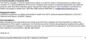 National Inpatient Medication Chart National Inpatient Medication Chart 2011 National Audit