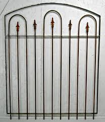 small garden wrought iron gate 4 ft tall x 42 wide to enlarge
