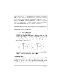 parametric plots parametric plots 12 22 hp 50g graphing calculator user manual page 405 887