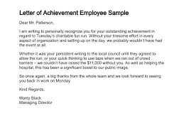 Letter Of Recognition Examples Employee Of The Month Recognition Letter Sample Write Up