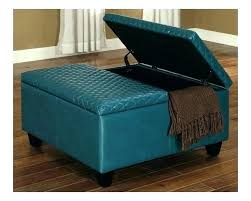 blue leather ottoman with storage ottomans with storage leather ottomans storage large