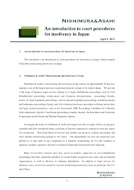 Insolvency group managers and territory / operation managers are responsible for ensuring the guidance and procedures described in this irm are group managers are required to submit quarterly certifications of compliance with section 1204 of the internal revenue service restructuring and. Https Www Jurists Co Jp Sites Default Files Tractate Pdf En An 20introduction 20of 20insolvency 20in 20japan Final 20110401 Pdf