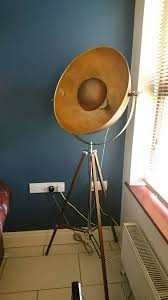 made chicago floor lamp antique copper and gold