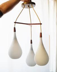 modern lighting pendant. danish modern chandelier light tear drop lighting pendant teak