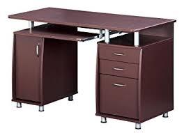 Amazon.com: TECHNI MOBILI Complete Workstation Computer Desk with Storage -  Chocolate: Kitchen & Dining