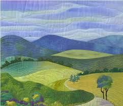 74 best Nancy Zieman Landscape Quilts images on Pinterest ... & landscape quilt. Oh I love how simple and calming this one is. Adamdwight.com