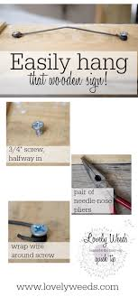 quick tip how to hang a wooden sign lovelyweeds com