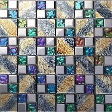 mosaic tile designs. Iridescent Mosaic Tile Plated Crystal Glass Backsplash Kitchen Designs Bathroom Wall Tiles IPG1391
