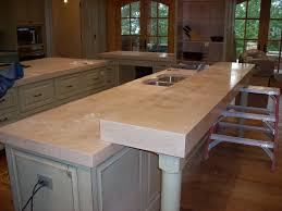 Image of: Bar Top White concrete countertop mix