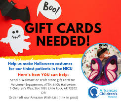 Halloween Gift Cards Donations Needed To Make Halloween Costumes For Arkansas