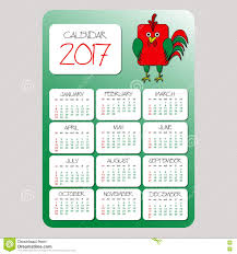 Chinese Calendar Template Calendar Symbol Of The Year Red Rooster On The Chinese Calendar