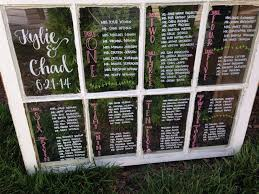 Window Pane Seating Charts For The Rustic Wedding In 2019