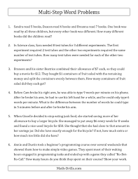 systems of equations word problems money new the easy multi step word problems math worksheet from