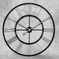 Small Picture Large black and silver metal wall clock Home decor Pinterest