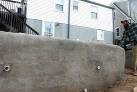 concrete bag retaining wall earth bag retaining wall