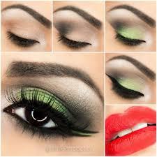 fresh green smoky eye makeup tutorial