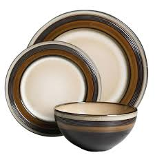 brown dinnerware sets. Fine Brown Gibson Everston 12Piece Brown Dinnerware Set In Sets
