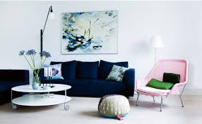 image of blue living room chairs