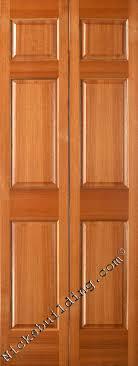 Bifold Interior Doors Mahogany 6 Panel