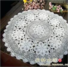 lace table covers fashion design handmade flower tea tablecloth cover cotton lace cutout knitted table cloth
