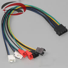 popular 5v molex buy cheap 5v molex lots from 5v molex pc diy 4 pin ide molex to 6 port cooler cooling fan 2pin splitter