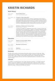7+ Social Work Resume Template | Way Cross Camp
