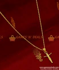 smdr105 gold plated jewellery in cross dollar pendant with cute short chain indian jewelry 130 1 850x1000 jpg