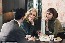 cate blanchett laughs watching kate mckinnon s carol spoof at the real film carol was a solemn drama about nascent lesbian love in the 1950s