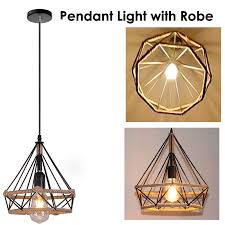 details about vintage edison iron robe wire cage hanging lamp shade pendant light chandelier