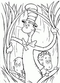 Small Picture Cat In The Hat Coloring Pages Free Printable Coloring Home