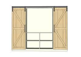 Barn Door Plans Diy Ana White Sliding Door Cabinet For Tv Diy Projects