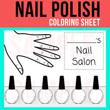 Just pick a coloring sheet, pay, and download! Nail Polish Coloring Sheet Paint Fingernails Reward Colors Vipkid Nail Polish Nail Polish Bottles Nails For Kids