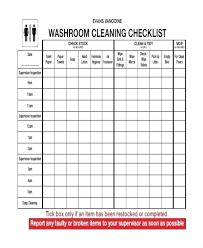 bathroom cleaning schedule. Bathroom Renovation Checklist Template Remodel Restaurant Cleaning Schedule F