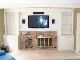 In Wall Entertainment Cabinet Custom Made Entertainment Center Around Fireplace By Northwind