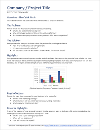 What Is Tamplate Executive Summary Template For Word