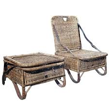 wicker folding chairs. Folding Wicker Chair Pair Of Canoe Chairs For Sale Uk . D