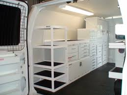 Cabinets For Cargo Trailers Plywood Lined Van With Bespoke Shelving And Racking Systems Can Be