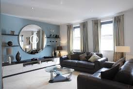 wall colors living room. Accent Wall Color Living Room With Large Round Mirrors Colors L