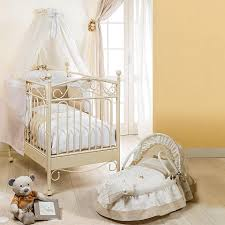 classic design baby nursery crib on wheels wooden structure at my