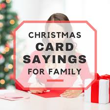 Photo Christmas Card 25 Christmas Card Sayings For Family