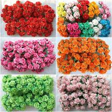 Buy Paper Flower 100 Mulberry Paper Rose Flower Artificial Wedding Mini Craft Scrapbook 2 Cm New