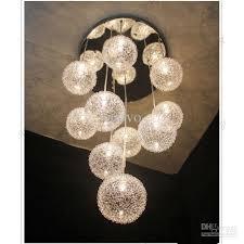 glass ball pendant lighting. discount 10 heads glass aluminum wire balls living room ceiling pendant light dining kitchen stair lighting fixtures ball a