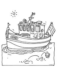 Kleurplaat Boot Met Kinderen Kleurplatennl