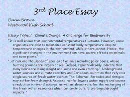 earth day essay poster photography competition  3rd place essay dana brown westwood high school