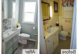 bathroom remodel on a budget pictures. Bathroom Remodel Budget White Toilet On Gray Tile Floor As Well Wall Mount Cabinet Towel Rails A Pictures N
