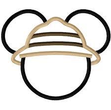 Safari Mickey Applique Design Mickey Mouse Safari Clipart