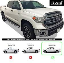 iBoard Running Boards Style Fit 07-18 Toyota Tundra CrewMax Cab | eBay