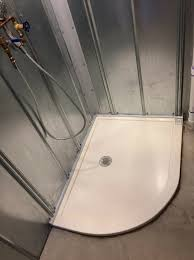 shower base solid surface curved pan innovate building solutions solidsurfacebase showerbase
